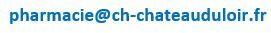Adresse mail pharmacie du CH de Chateau du loir